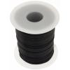 Cotton Wax Cord 0.5mm Round Black